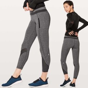 Lululemon Inspire Tight II Heathered Black Sz 4